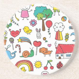 Wellcoda Cute Little Kids Dream Love Life Coaster