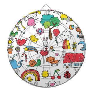 Wellcoda Cute Little Kids Dream Love Life Dart Boards