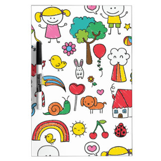 Wellcoda Cute Little Kids Dream Love Life Dry Erase Board