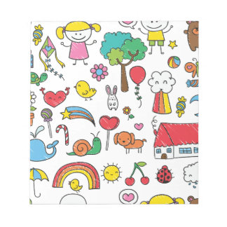 Wellcoda Cute Little Kids Dream Love Life Notepad