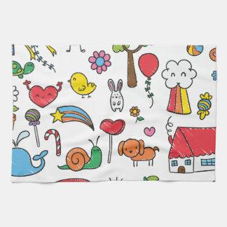 Wellcoda Cute Little Kids Dream Love Life Tea Towel