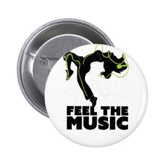 Wellcoda Dance Feel The Music Headphone 6 Cm Round Badge