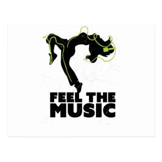 Wellcoda Dance Feel The Music Headphone Postcard