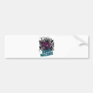 Wellcoda Dance Macabre Skull Happy Crazy Bumper Sticker