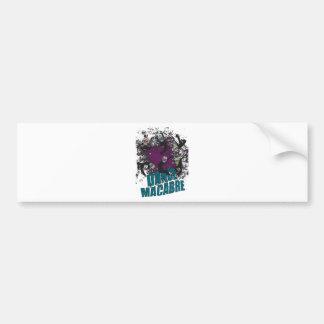 Wellcoda Dance Macabre Skull Happy Crazy Bumper Sticker