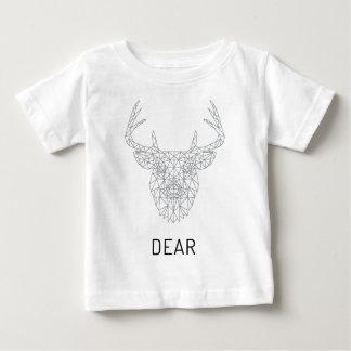Wellcoda Dear Deer Stag Head Wild Print Baby T-Shirt