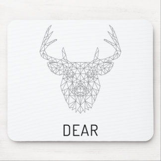 Wellcoda Dear Deer Stag Head Wild Print Mouse Pad