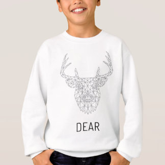 Wellcoda Dear Oh Deer Animal Crazy Stag Sweatshirt