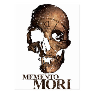Wellcoda Death Skull Clock Skeleton Time Postcard