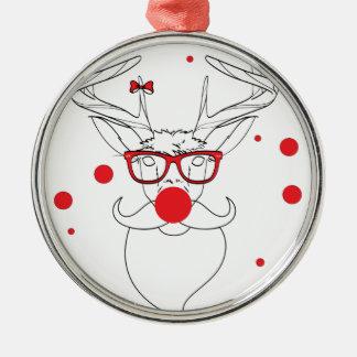 Wellcoda Deer Hipster Winter Geek Holiday Christmas Ornament