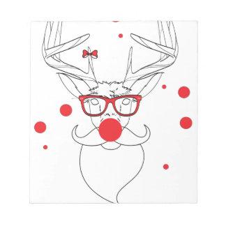 Wellcoda Deer Hipster Winter Geek Holiday Notepads