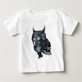 Wellcoda Devil Skull Head Evil Skeleton Baby T-Shirt