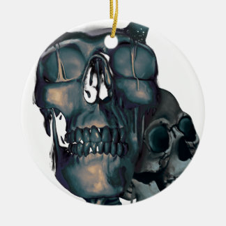 Wellcoda Devil Skull Head Evil Skeleton Christmas Ornament
