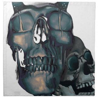 Wellcoda Devil Skull Head Evil Skeleton Napkin
