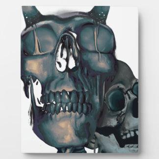 Wellcoda Devil Skull Head Evil Skeleton Plaque