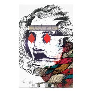 Wellcoda Diamond Eye Face Vibe Graphic Stationery