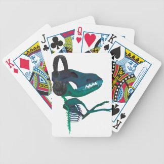 Wellcoda Dinosaur Headphone Music Lover Bicycle Playing Cards