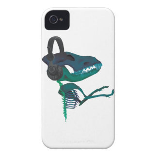 Wellcoda Dinosaur Headphone Music Lover Case-Mate iPhone 4 Cases