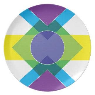 Wellcoda DJ Summer Crazy Vibe Colour Life Dinner Plate