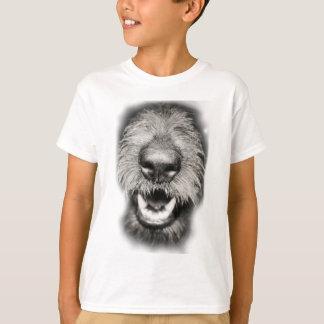 Wellcoda Dog Close Up Face Cool Pet Comic T-Shirt