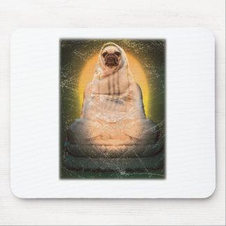 Wellcoda Dog Pug Buddha God Cute Puppy Mouse Pad