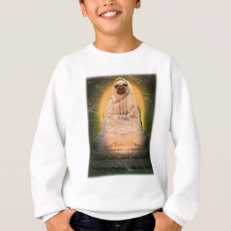 Wellcoda Dog Pug Buddha God Cute Puppy Sweatshirt
