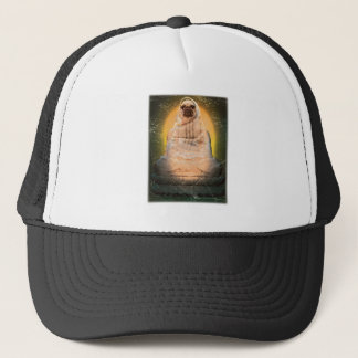 Wellcoda Dog Pug Buddha God Cute Puppy Trucker Hat
