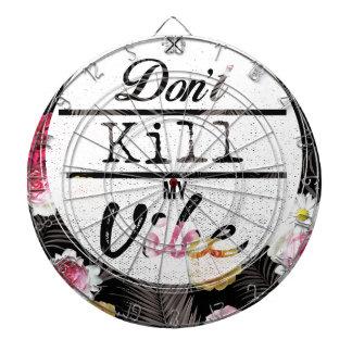 Wellcoda Don't Kill My Vibe Summer Fun Dartboard