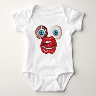 Wellcoda Donut Eyeball Face Sweet Lip Baby Bodysuit