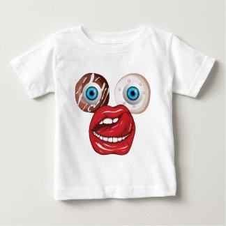 Wellcoda Donut Eyeball Face Sweet Lip Baby T-Shirt
