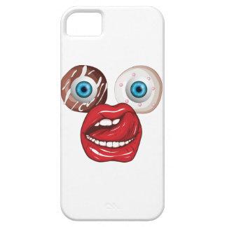 Wellcoda Donut Eyeball Face Sweet Lip Case For The iPhone 5