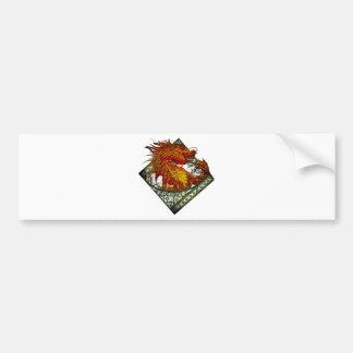 Wellcoda Dragon Fantasy Beast Oriental Bumper Sticker