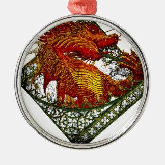 Wellcoda Dragon Fantasy Beast Oriental Christmas Ornament