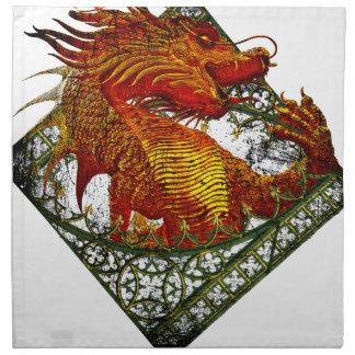 Wellcoda Dragon Fantasy Beast Oriental Napkin