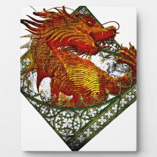 Wellcoda Dragon Fantasy Beast Oriental Plaque