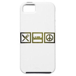 Wellcoda Eat Sleep Make Peace Symbol Fun iPhone 5 Covers
