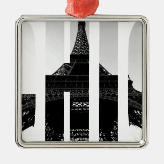 Wellcoda Eiffel Tower Chic Swag Paris Love Christmas Ornament
