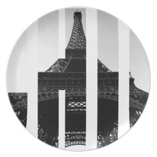 Wellcoda Eiffel Tower Chic Swag Paris Love Plate
