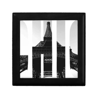 Wellcoda Eiffel Tower Chic Swag Paris Love Small Square Gift Box