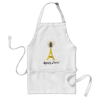 Wellcoda Eiffel Tower France Paris City Standard Apron