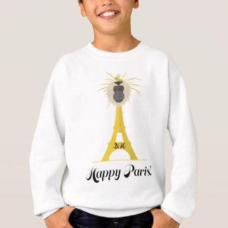 Wellcoda Eiffel Tower France Paris City Sweatshirt