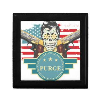 Wellcoda Elvy Skull Head USA American Gun Gift Box