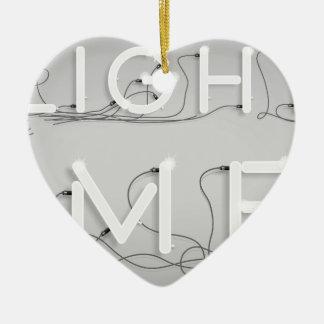 Wellcoda Enlighten Me Bulbs Swag Hipster Ceramic Heart Decoration