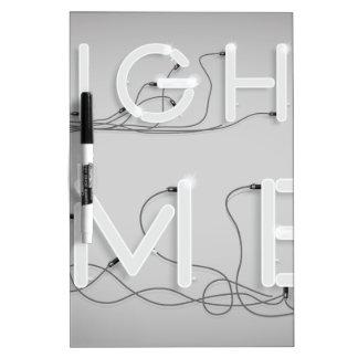 Wellcoda Enlighten Me Bulbs Swag Hipster Dry-Erase Boards