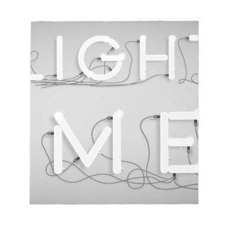Wellcoda Enlighten Me Bulbs Swag Hipster Notepad