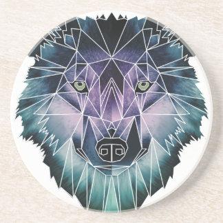 Wellcoda Epic Summer Wolf Face Nature Fun Coaster