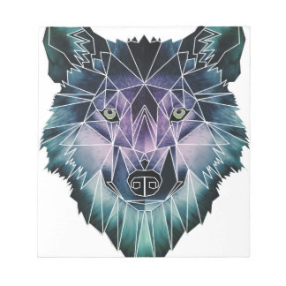Wellcoda Epic Summer Wolf Face Nature Fun Notepad