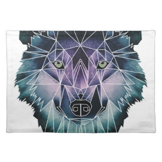 Wellcoda Epic Summer Wolf Face Nature Fun Placemat