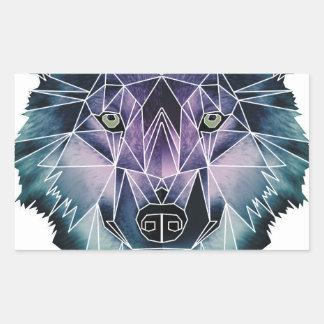 Wellcoda Epic Summer Wolf Face Nature Fun Rectangular Sticker