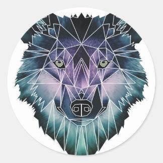 Wellcoda Epic Summer Wolf Face Nature Fun Round Sticker